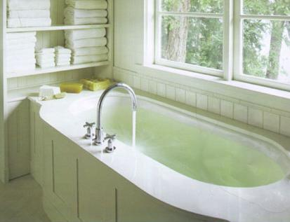 Clean Stains Off an Old Bathtub