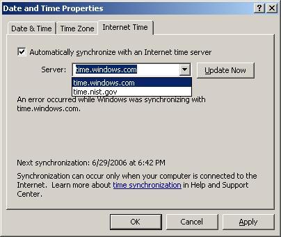 Authoritative Time Server
