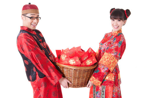 Couple sharing gifts