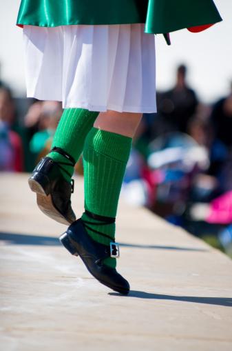 Irish dancing child, highland dancing competition,