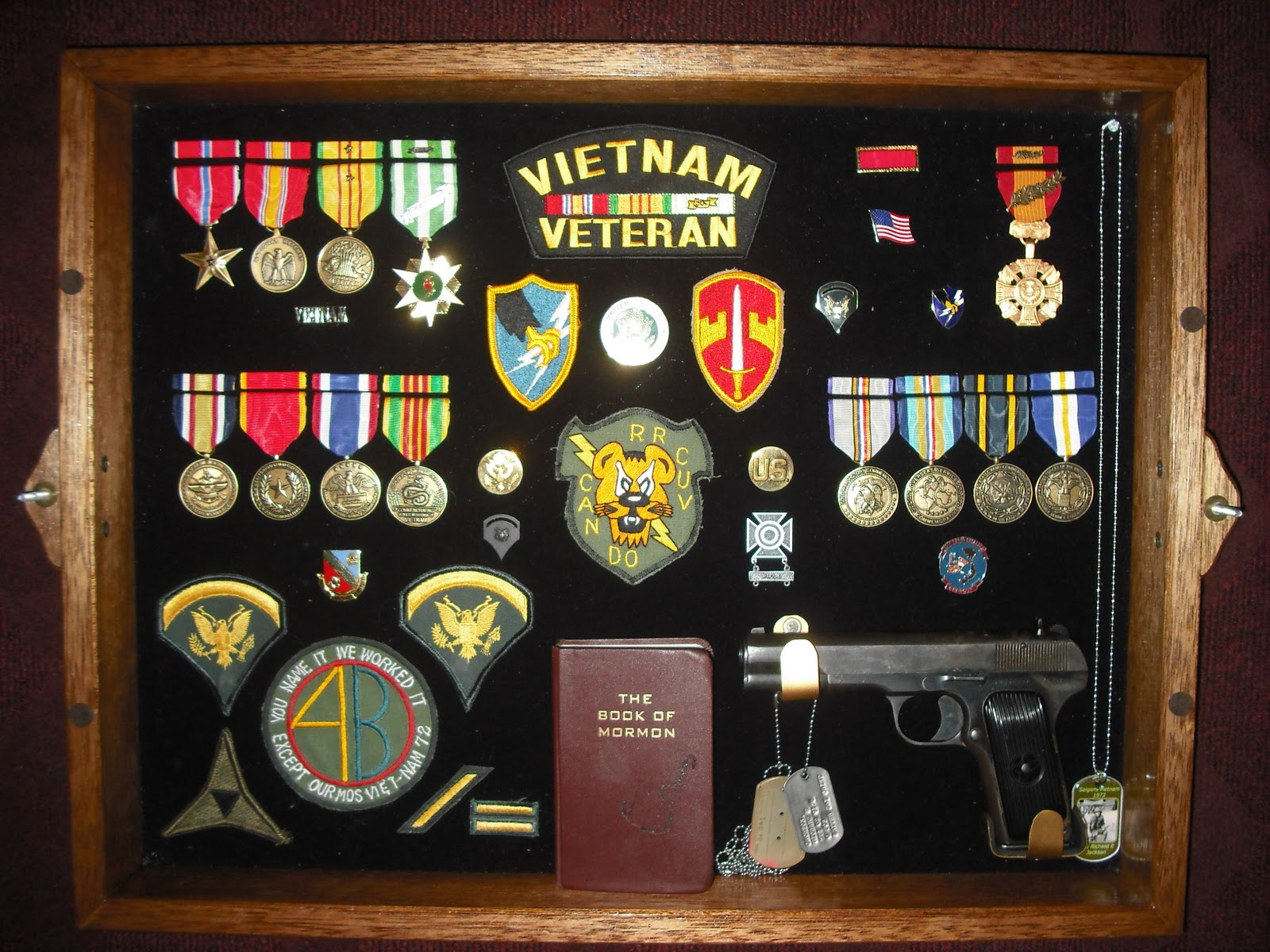 Display Military Medals in a Shadow Box