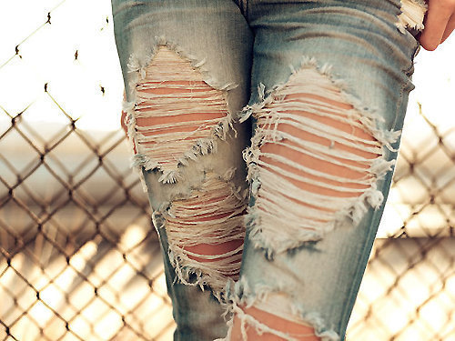 Distress Your Jeans with Bleach