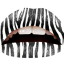 How to Do Zebra Print Lips