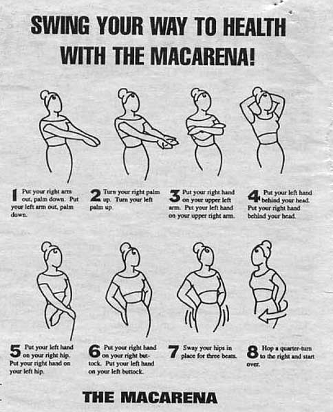 Steps to the Macarena dance