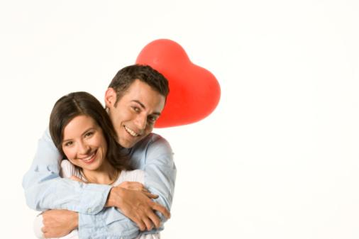 enjoying Valentine's Day with boyfriend