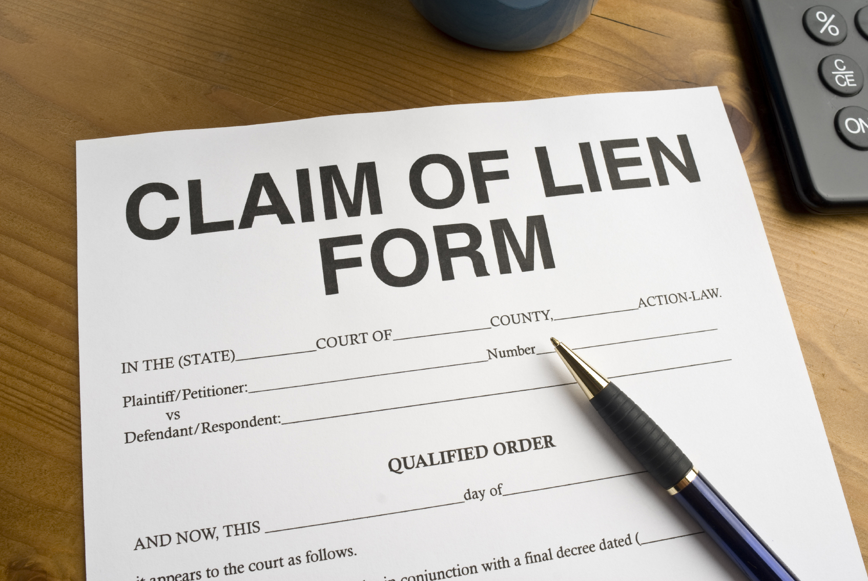 how to file a lien on property