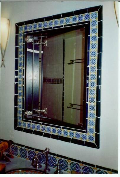 How to Frame a Mirror with Tile