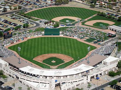 An aerial view of the Hohokam Park