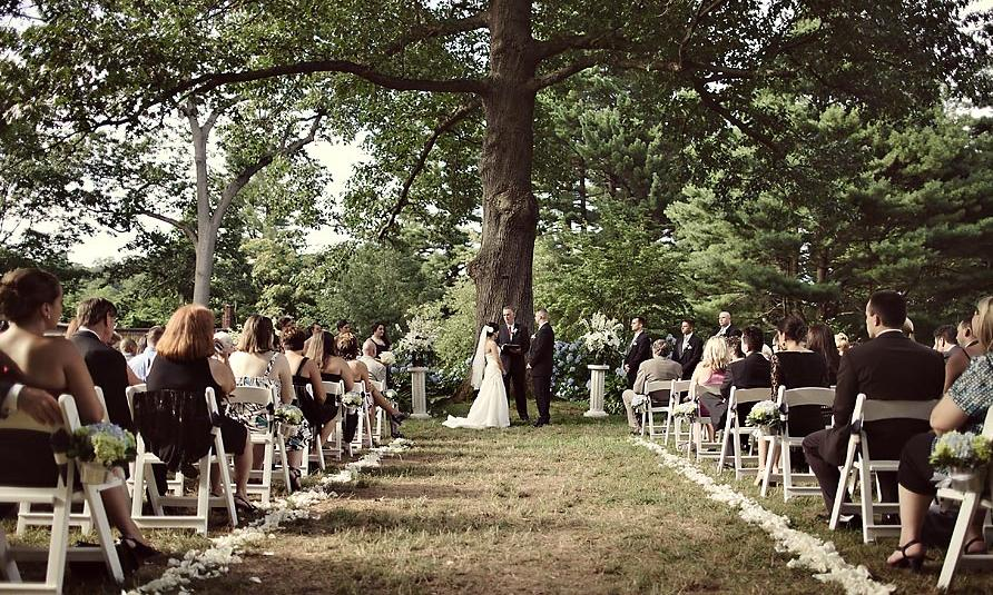 Getting married in a park
