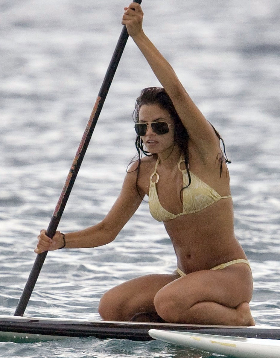 Girl on paddleboard