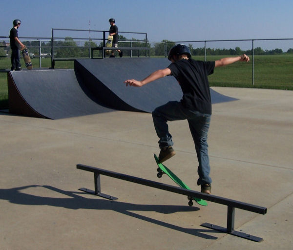 boy skating in a skate park