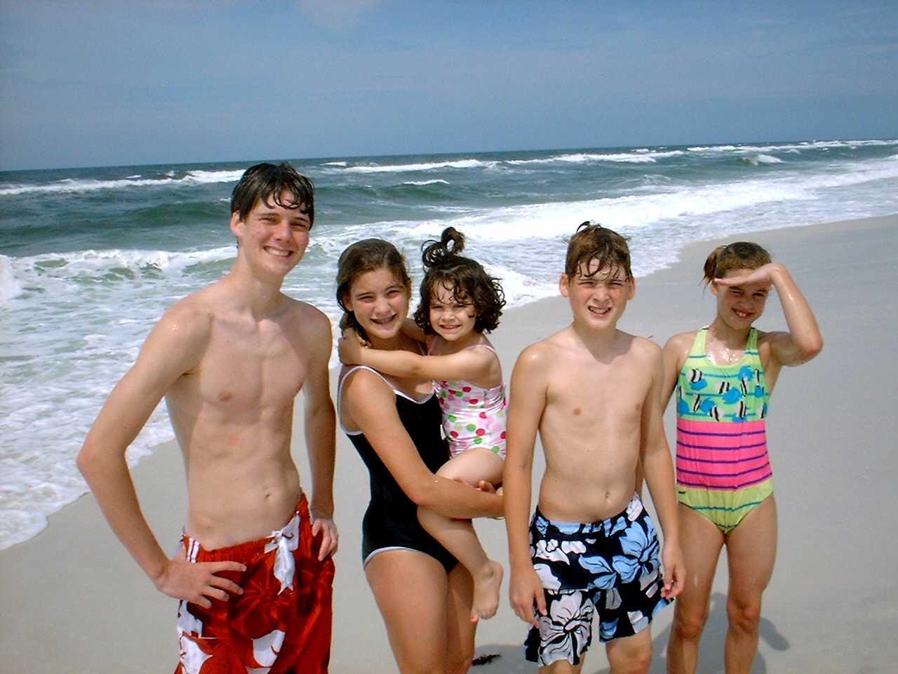 Children enjoying at beach
