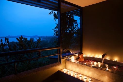relaxing spa evening
