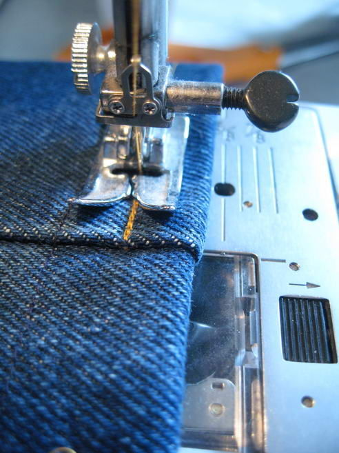 how to hem with a sewing machine