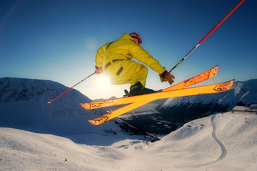 Jumps While Skiing