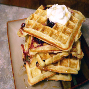 Make & Bake Corn Meal Waffles