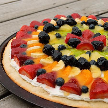 Breakfast Fruit Pizza