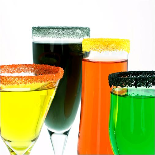 Drinks with Colored Sugars