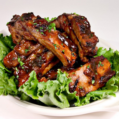 well cooked baked bbq pork ribs or baby back ribs melt in your mouth ...