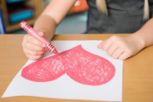 Valentine Art with Children