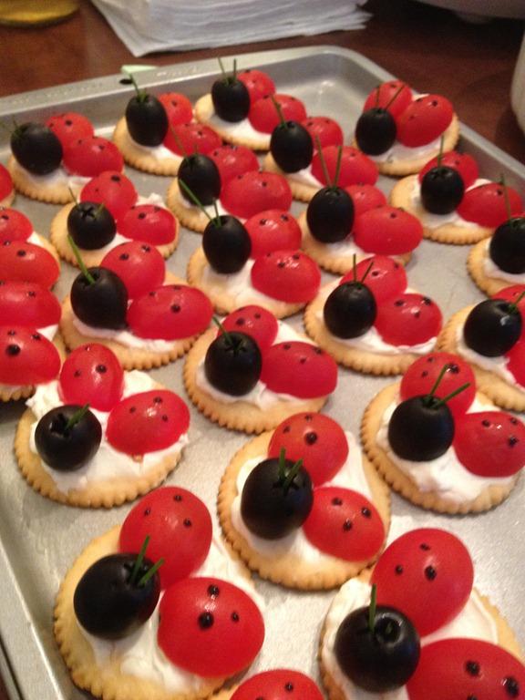 Ladybug Cracker Appetizers