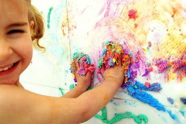 How to make shaving cream puffy paint for Shaving cream paint
