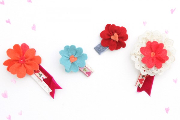 Make Valentine Barrettes