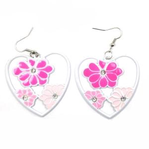 Make Valentine Heart and Pearl Earrings