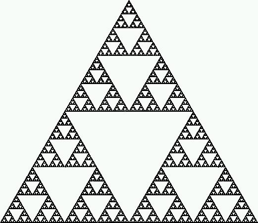 make a sierpinski triangle
