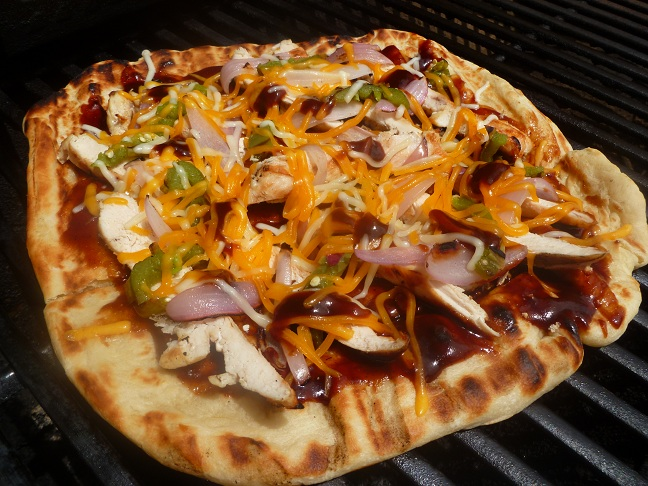 BBQ Chicken Pizza on the Grill