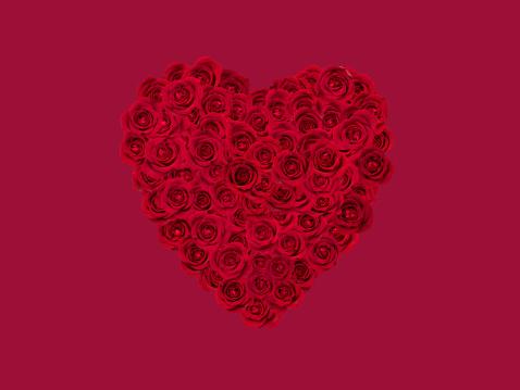 Flower Arrangement for a Valentine