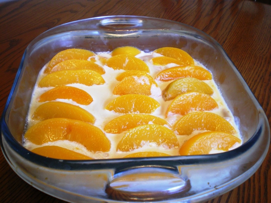 Peach Cream Cake Condensed Milk