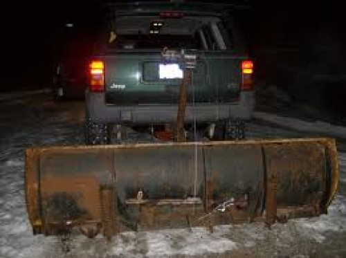 Trailer Hitch for a Snow Plow