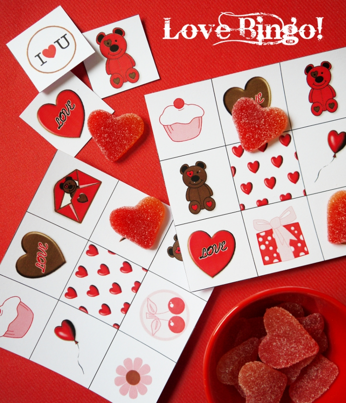 Make a Valentine Bingo Game