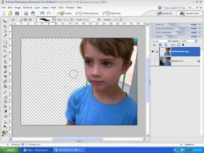 Make an Eraser Tool Size in Photoshop CS5
