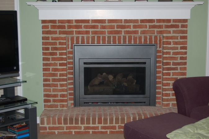 How to paint fireplace brick interior for How to remove paint from interior brick