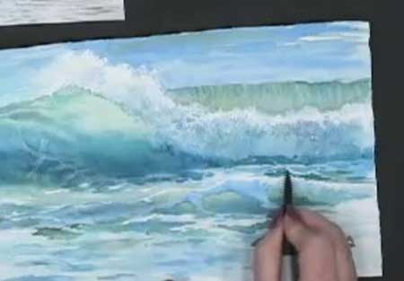 How to Paint Ocean Waves with Watercolor
