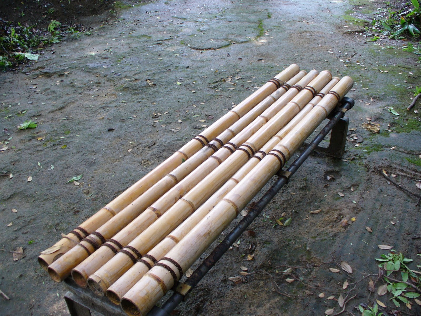Pvc Pipes Painted To Look Like Bamboo
