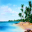 How to Paint Tropical Beaches