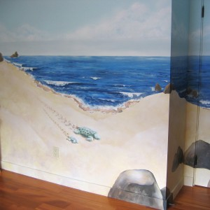 how to paint a beach themed bedroom
