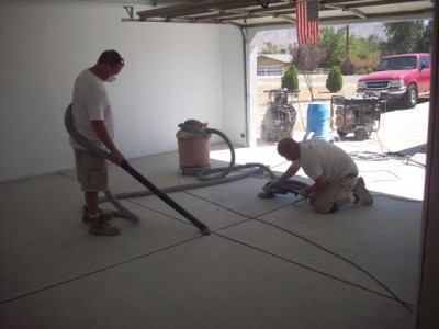 How to paint a concrete garage floor for How to degrease concrete garage floor