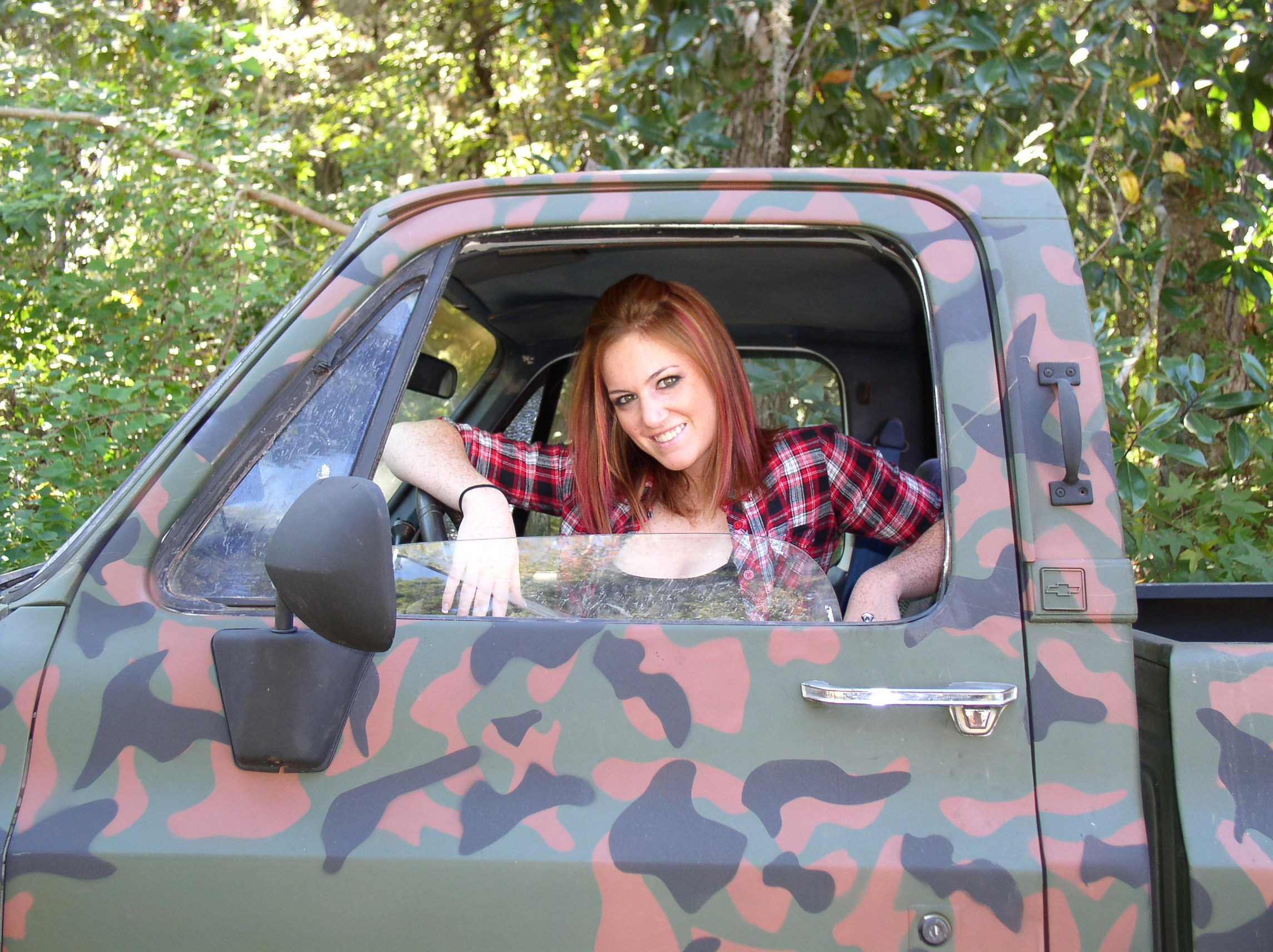 Camouflage Painted Truck