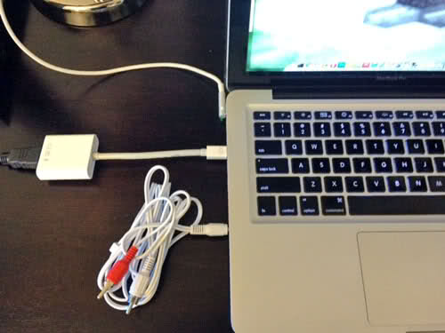 connecting a macbook to the tv