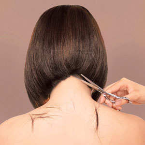 Properly Hold Hair Cutting Scissors