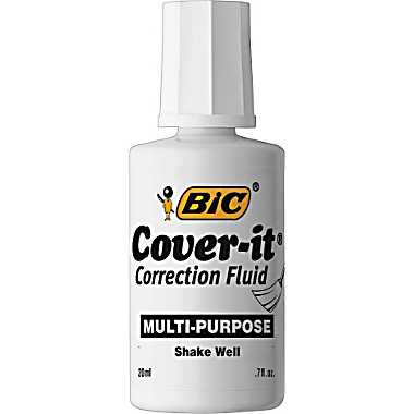 How to Remove a Correction Fluid Stain