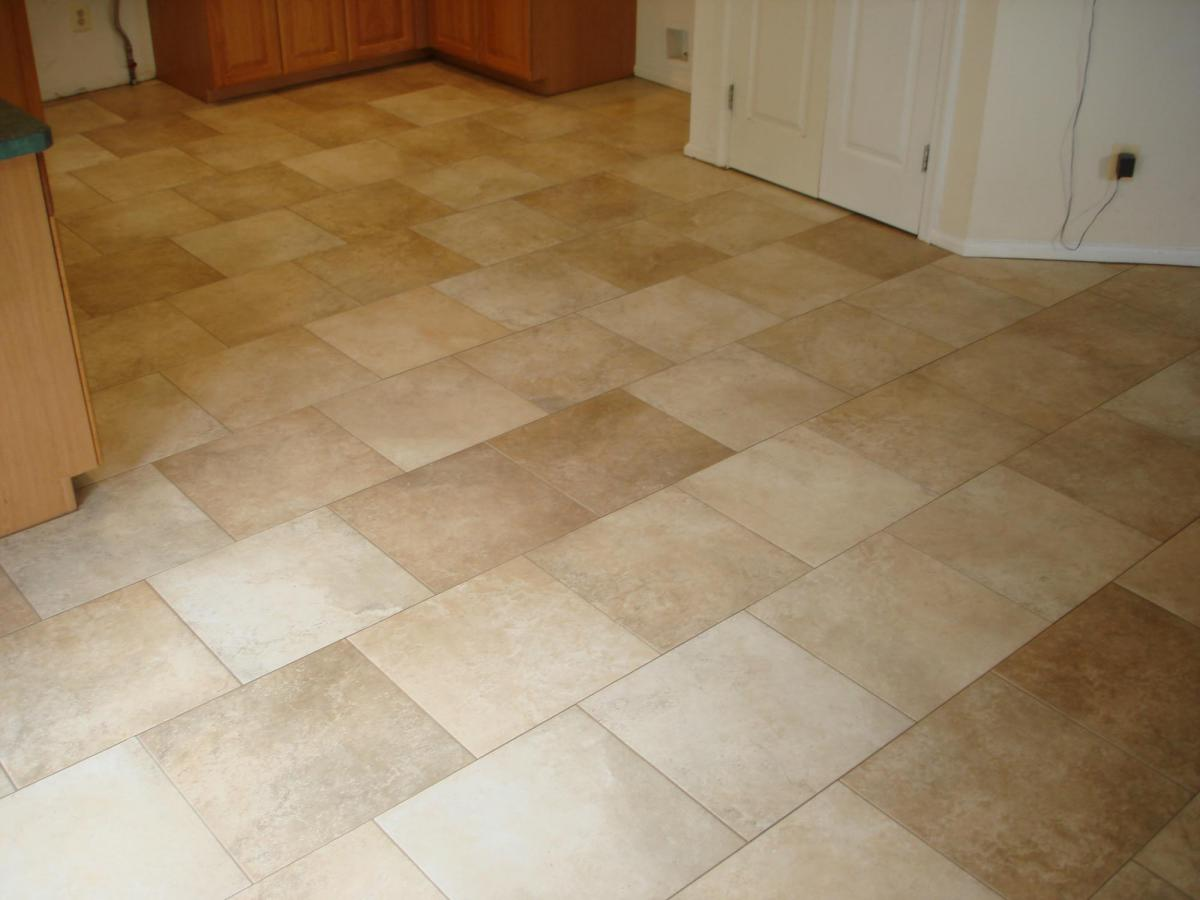 A typical tile floor