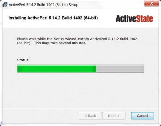 Run Perl on Windows 7