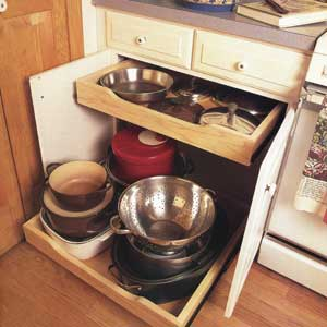 How to Save Space in a Kitchen Cabinet