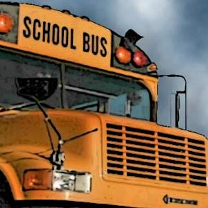 Sleeping on a School Bus
