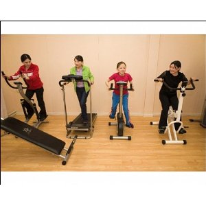 Kids working out
